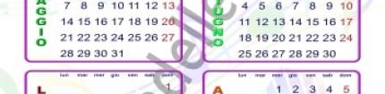 Il calendario 2018